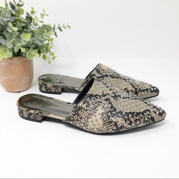Beast Fashion Silver Studded Snakeskin